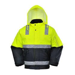 Venda por grosso de segurança de Inverno Reflective Hi Viz colete reflector de desgaste de segurança