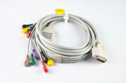 Nihon Kohden 10 eletrodos de pino banana do cabo de ECG