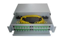 2U 48 Fo deslizando sc/LC/St Patch Panel de Fibra Óptica