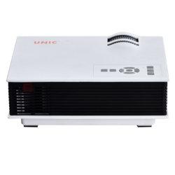 도매 Unic UC40+ LED 소형 영사기 800lms 휴대용 가정 극장 소형 영사기