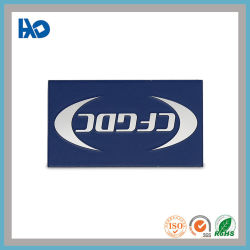 Logo gaufré personnalisé de l'argent gravé le nom de la plaque en acier