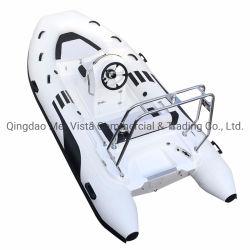 中国の新しい項目PVC堅く膨脹可能なガラス繊維の肋骨390のボート