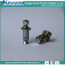 Boulon à tête fraisée d'ancrage d'extension et un écrou hexagonal M6 M8 avec l'acier Stainlesss 304 316