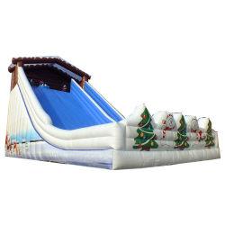 Aufblasbares Weihnachtsverzieren größtes Schnee-Mann-Doppelt-Weg-Plättchen für Weihnachtsereignis