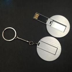 Carte d'affaires d'aluminium métallique Carte métallique rond 1GB 2GO 4 GO 8 GO de 16Go 2.0