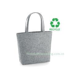 Eco-Friendly 펠트 부대 주문 로고로 느껴지는 Ecofriendly 끈달린 가방