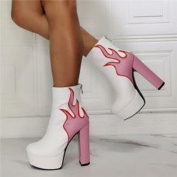 여성용 신발 레이디 슈즈 플랫폼 발목 부티 하이 힐 브랜드 섹시한 패션 부츠