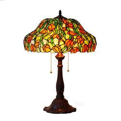 Comercio al por mayor de 8 pulgadas hechos a mano antiguo Vitreaux Tiffany Lámpara de mesa