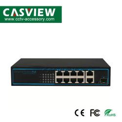 CPE-4208être 11 ports commutateur 10/100Mbps avec construit dans 52V 2.3A 120W de puissance 8*100/100Mbps Poe ; 3*10/100Mbps Port uplink ; les données et d'alimentation POE IEEE 802.3af 100mètres