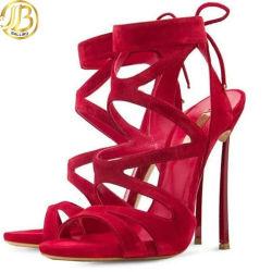 Neuer Entwerfer-hoher Absatz Oxford bereift Frauen-Sandelholz-Sommer-Schuhe