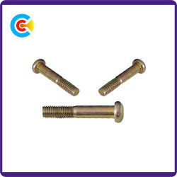 Acciaio al carbonio di DIN/ANSI/BS/JIS/viti di macchina di acciaio inossidabile del Rod del doppio del fascio di esagono M12