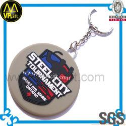 Anillo de goma de plástico barato personalizado clave para regalo de promoción