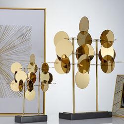 Helle Luxus Edelstahl Dekoration Hotel Hall Wohnzimmer Dekoration Artikel