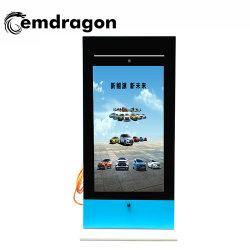 Voiture de 65 pouces Pieu de charge de la publicité extérieure support USB de la machine Split Screen ad l'écran LCD d'affichage de la publicité numérique Cadre photo numérique de haute qualité