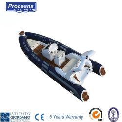 Barca della nervatura diplomata Ce Rib580 con 5 anni di garanzia