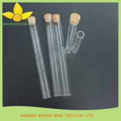 Hohe Glasgefäß des Borosilicat-3.3 mit Korken