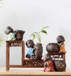 사무실 찻집 홈 장식 귀여운 작은 몽크 수중포닉 Vase 세라믹 공예