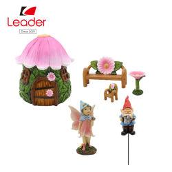 工場花の家の妖精の庭のミニチュアキット、8つの妖精のミニチュア庭のアクセサリのセット