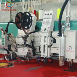 工場価格のマルチ機能のコンピュータ化された平らな刺繍機械