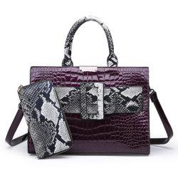 2019 itens mais populares de PU Leather Mulher Fashion Designer Sacola grande senhora carteiras e bolsas definido