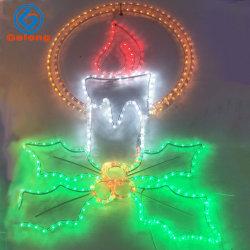 LED Bougie 2D de modélisation de la lumière de Noël de feux de chaîne
