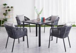 Maison de loisirs personnalisée de haute qualité moderne en rotin patio Bistro extérieur Meubles de jardin