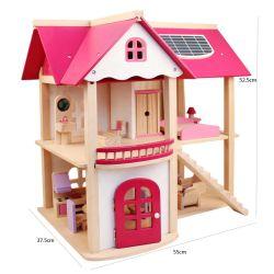 아이는 가구 Handmade 나무로 되는 인형 DIY 집 장난감을%s 가진 창조적인 큰 아이들 생일 선물 인형의 집을