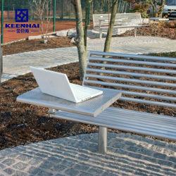 Design classique Banc de jardin en plein air en acier inoxydable