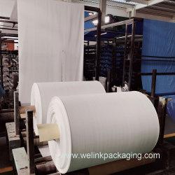 Tecidos 100% polipropileno tecido impermeável saco de tecido PP Rolo com preço barato