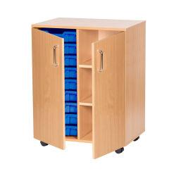 Armário de madeira da Unidade de Biblioteca Móvel de Armazenamento de madeira