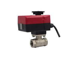 OEM 24V 230V watergemotoriseerde soleniod elektrische messing kogelafsluiter Met actuator 3 draden voor water