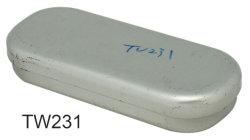 Regalo rettangolare ovale che impacca, contenitore del ferro della latta di metallo dello stagno della matita della penna della cancelleria di studio