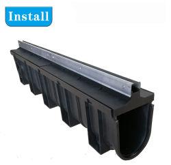 Canal de drenaje de piso de plástico de la tapa de cierre