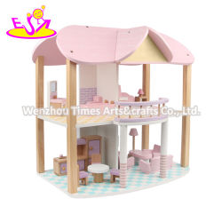 2020 New Arrival Pink Kids Wooden Doll House for Sale W06A385