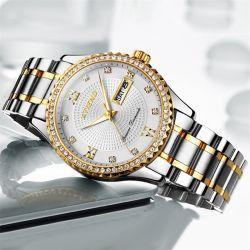 China Brand varões de aço inoxidável relógios de negócios com o luxo de calendário desporto masculino ver o relógio Mecânico Relogio Masculino