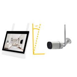 7インチLCDのタッチ画面のモニタNVR 2.4G WiFi CCTVの保安用カメラキット