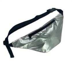 Werbeartikel Metallic Nylon Silber Fanny Pack Crossbody Gürtel Taillentasche