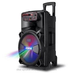 Altoparlante Bluetooth portatile ricaricabile per carrello esterno wireless da 12 pollici con Luce laser