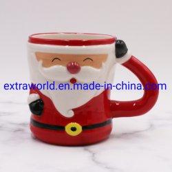 맞춤형 디저트 컵 카툰 크리스마스 3D 세라믹 머그컵 선물