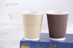 Imballaggio asportabile della bevanda di caffè di Eco del supporto della maniglia del fondo della tazza di carta del cassetto amichevole della tazza