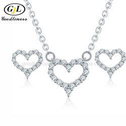 В форме сердечка Earring ожерелья Fashion украшения в подарок