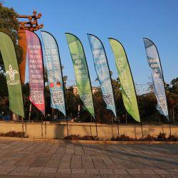 Grande praia Personalizado Feather Pavilhão Banner para Festival Festa de Natal Publicidade