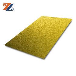 شركة هونغوانغ المصنّعة 201 304 PVD طلاء لون ذهبي مقاوم للصدأ ورقة فولاذية للوحة الحائط المزخرف
