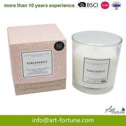 Ароматические соевый воск свечи в со стеклянным кувшином и приятный подарок для интерьера