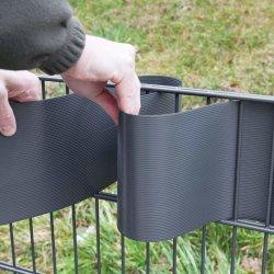 Heißer verkaufender Dunkel-Grauer 1.3mm 19cmx2.53m harter Belüftung-Streifen-Bildschirm-Zaun