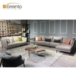 Qualidade de luz nórdicos na luxuosa casa grande sofá de tecido de linho