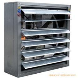 Estufas agrícolas tipo fazenda de gado das emissões de evaporação de água do refrigerador de ar do ventilador de exaustão e almofada de resfriamento