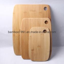 Heißer Verkauf 3 Stück Set Bambus Schneidebrdplatte Küchengeräte