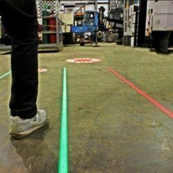 80V 230 В склад зеленый поблизости промышленных виртуальных лазерная линия освещения пола маркировка проектор для безопасности пешеходов