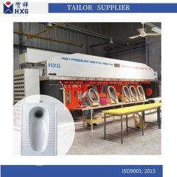 La porcelaine sanitaire armoire haute pression pour la céramique de la machine de moulage du bassin de squattage Pan Pan Asiatique avec de multiples moule